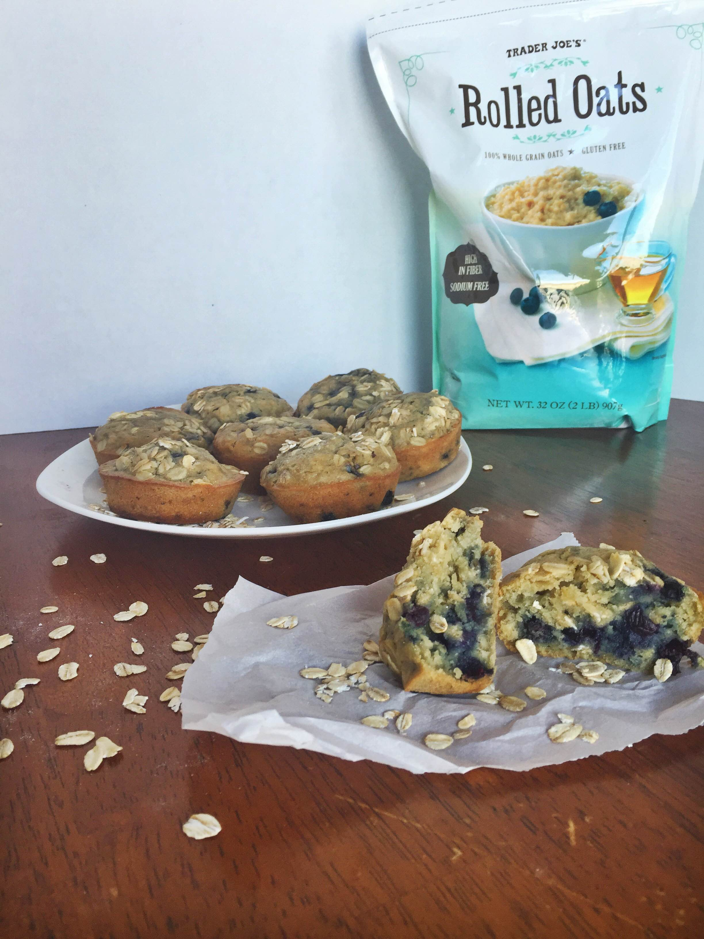 Healthy Blueberry Breakfast Muffins